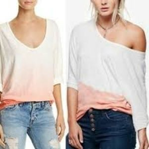 We the free by Free People Ombre linen blend top
